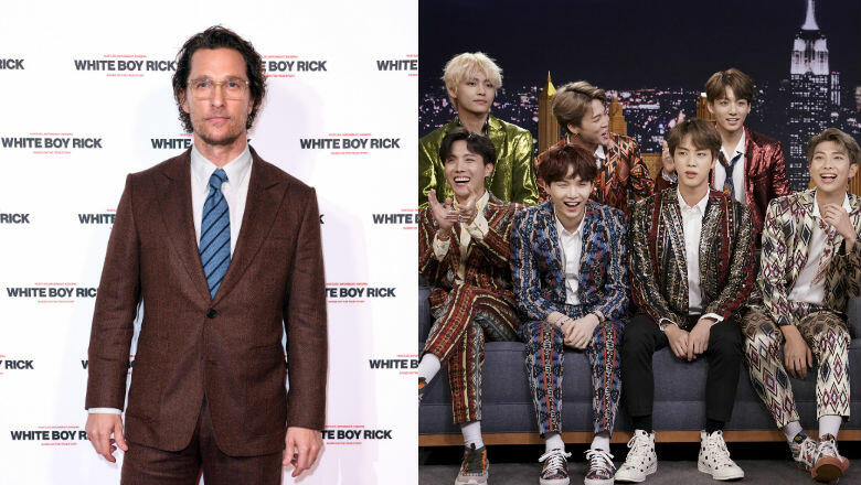 Matthew McConaughey 'Broke A Sweat' At A BTS Concert With His Family