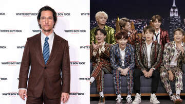 Entertainment News - Matthew McConaughey 'Broke A Sweat' At A BTS Concert With His Family