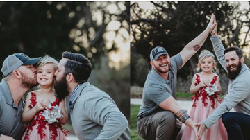 Lori - Dad & Step Dad Pose With Daughter Before Dance And Go Viral