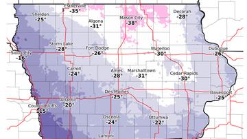 None - Snow totals, blowing snow, windchill IOWA MAPS