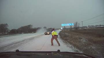 Shotgun Taylor - Wisconsin Deputy Gets Out of the Way of Sliding SUV!