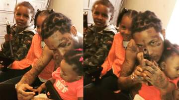 Promise - The Bizness Hourz - SMDH Sat Rapper post video with his young daughter & baby holding guns