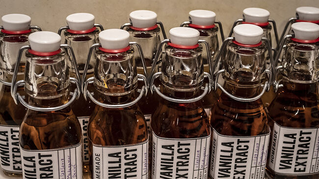 bottles of vanilla extract