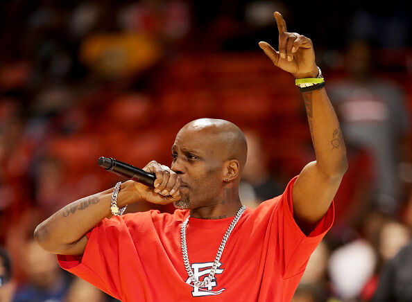 BIG3 - Week Five CHICAGO, IL - JULY 23: Rapper DMX performs during week five of the BIG3 three on three basketball league at UIC Pavilion on July 23, 2017 in Chicago, Illinois. (Photo by Streeter Lecka/BIG3/Getty Images)