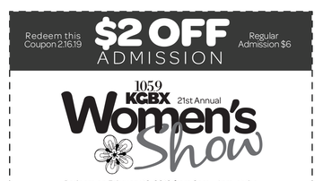 KGBX Women's Show - 2019 Discount Coupon
