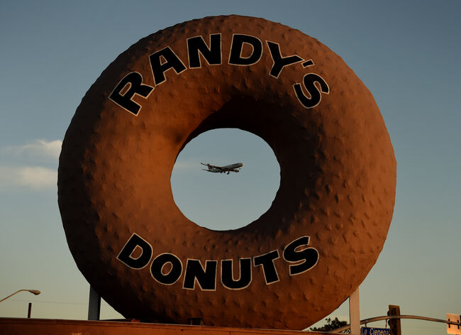 Randy's Donut's iconic sign gets makeover for Super Bowl
