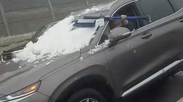 McKay and Donuts - Driver Tries Scraping Window WHILE DRIVING!