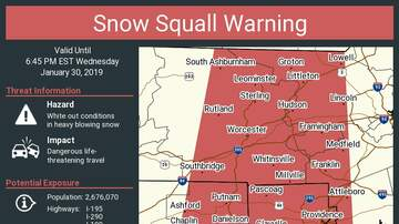 Storm Center - NWS Issues Snow Squall Warning