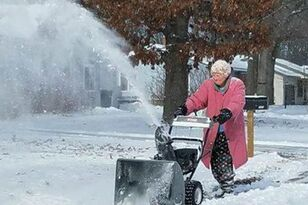 82-year-old is self-proclaimed 'tough, old broad' when it comes to the snow