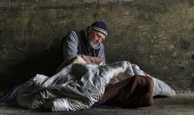 Getty Images Homeless person