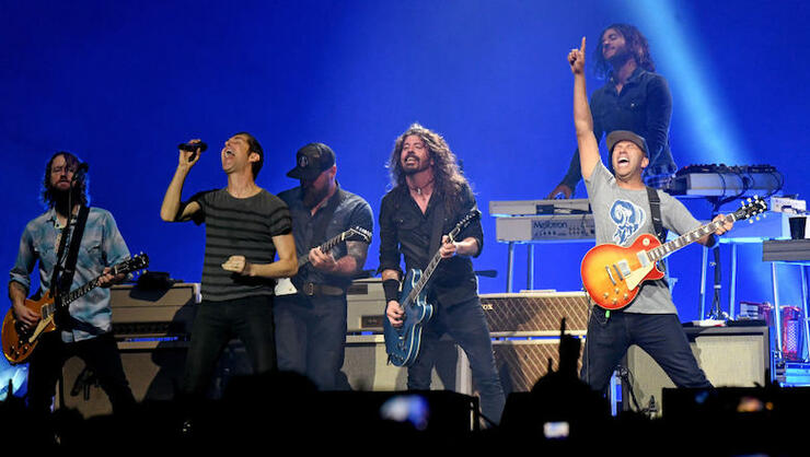 Foo Fighters Bring Out All-Star Guests For Pre-Super Bowl Concert   iHeartRadio