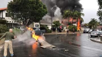 JJ Ryan - Video From Plane Crash Shows Homes On Fire, Plane Debris On Street & Yards