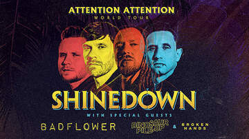 None - Shinedown ATTENTION ATTENTION World Tour Charlotte & Raleigh
