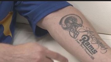 Qui West - Rams Fan Got A Super Bowl Tattoo Before The Game & Now Has The Permanent L!