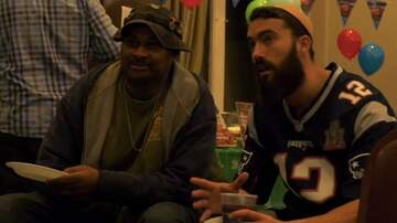 Madison - Homeless men treated to Super Bowl party!