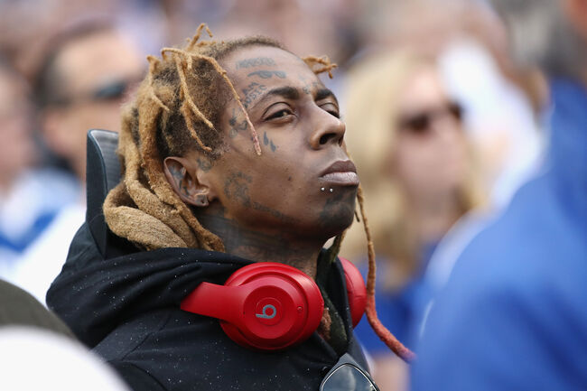 World Series - Boston Red Sox v Los Angeles Dodgers - Game Five LOS ANGELES, CA - OCTOBER 28: Lil Wayne attends Game Five of the 2018 World Series between the Los Angeles Dodgers and the Boston Red Sox at Dodger Stadium on October 28, 2018 in Los Angeles, California. (Photo by Ezra Shaw/Getty Images)