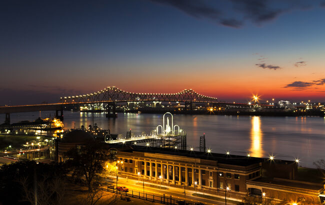 Baton Rouge Mississippi River Bridge Getty RF