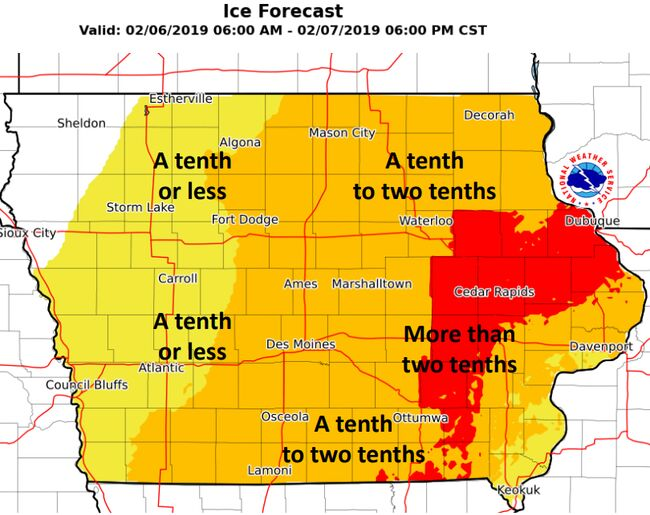 Iowa Ice Map