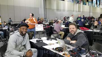 None - Cliff and Puck at Radio Row in Atlanta [Photos]