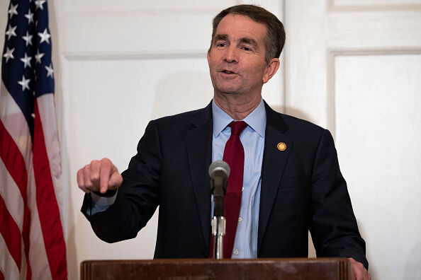 VA Governor Northam Holds Press Conference To Address Racist Yearbook Photo RICHMOND, VA - FEBRUARY 02: Virginia Governor Ralph Northam speaks with reporters at a press conference at the Governor's mansion on February 2, 2019 in Richmond, Virginia. Northam denies allegations that he is pictured in a yearbook photo wearing racist attire. (Photo by Alex Edelman/Getty Images)