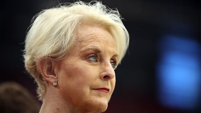 Cindy McCain, wife of the late U.S. Senator John McCain stands on the sidelines before the game between the Arizona Cardinals and the Washington Redskins at State Farm Stadium