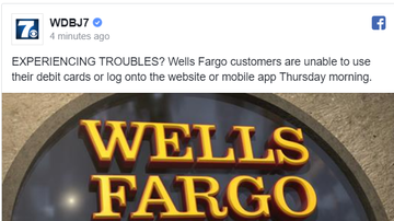 NewsRadio WKCY - News NOW  - Wells Fargo working to resolve widespread outage