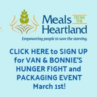 Volunteer to Help Package Meals from the Heartland  With Van & Bonnie!