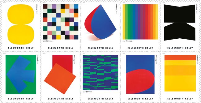 Ellsworth Kelly art added to USPS stamp collection