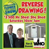Enter to Win Flower, Lawn and Garden Show Tickets and qualify to win a SHED!
