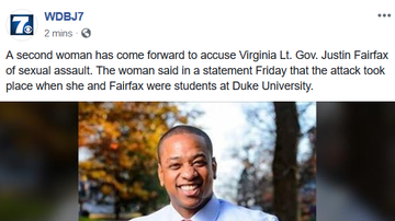 NewsRadio WKCY - News NOW  - Second woman accusing Virginia Lt. Gov. Justin Fairfax of sexual assault.