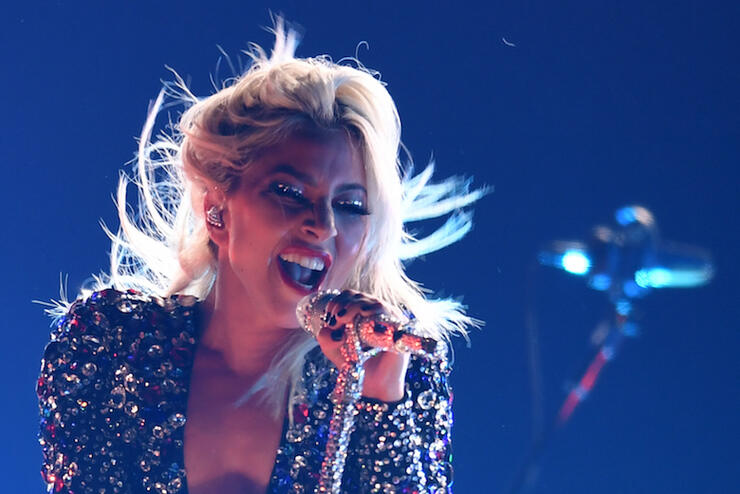 Lady Gaga performs at the 2019 Grammys