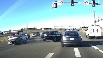 Chuck Dizzle - Tesla Model 3 Autopilot Saves Driver From A Crazy Accident