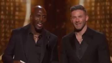 Paul and Al - Julian Edelman And Devin McCourty Present A Grammy To Lady Gaga