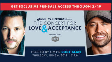 CMT Cody Alan - CMT + Cody Alan Announce Support Of 2019 GLAAD Concert