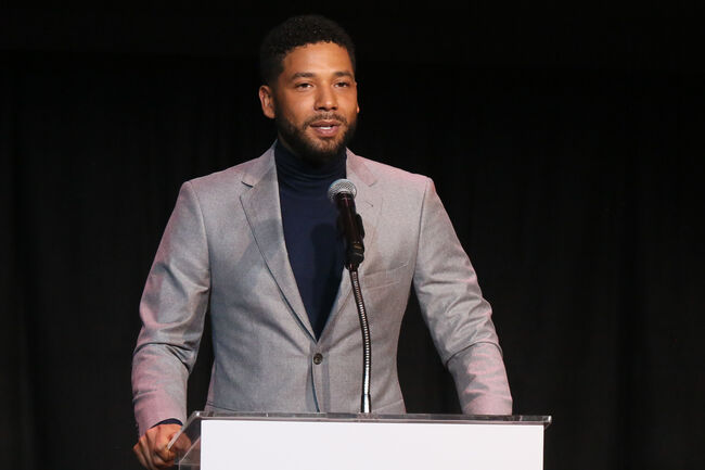 Children's Defense Fund California's 28th Annual Beat The Odds Awards - Show LOS ANGELES, CA - DECEMBER 06: Jussie Smollett speaks at the Children's Defense Fund California's 28th Annual Beat The Odds Awards at Skirball Cultural Center on December 6, 2018 in Los Angeles, California. (Photo by Gabriel Olsen/Getty Images)