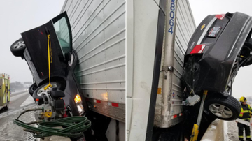 BC - Driver Somehow Survives Terrifying Highway Crash