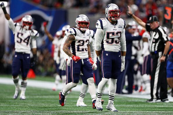 Patriots defense during Super Bowl 53