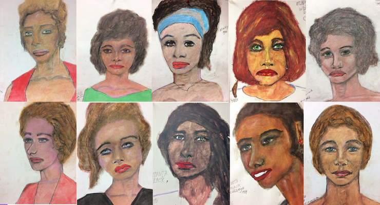 FBI releases portraits a serial killer drew of his victims in hopes they might be identified.