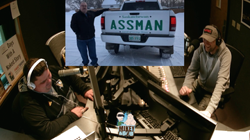 The Morning Freak Show - 'Assman' displays giant decal after being denied 'Assman license plate