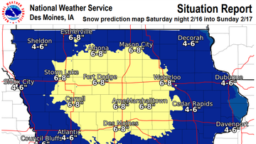 Local News - 6-8 inches of snow likely in Ames area IOWA SNOW MAPS