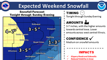 WOC-AM Local News Blog - 3-5 inches of snow likely in Quad Cities area SNOW MAPS