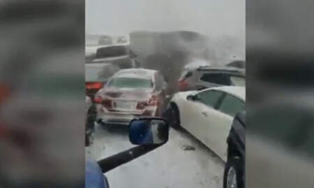 National News - Truck Driver Records 47-Car Pile-Up On Icy Missouri Highway