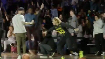 Sports Top Stories - Steph Curry's Mom Drills Underhanded Shot From Half Court