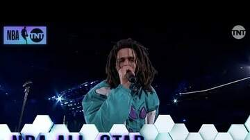 DJ MK - J COLE HALFTIME PERFORMANCE FROM NBA ALLS STAR GAME.