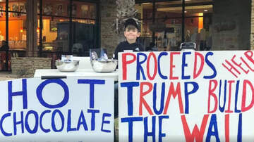 National News - Seven-Year-Old Boy Sets Up Hot Chocolate Stand To Help Pay For Border Wall