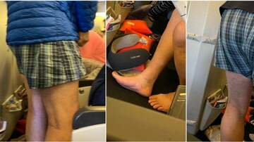 Klinger - Air France Passenger Gets Comfortable By Removing Pants and Socks