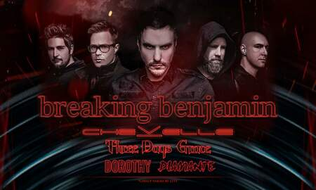Amy Warner - Breaking Benjamin, Chevelle, Three Days Grace in Hershey