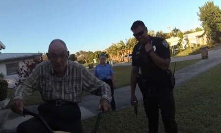 Weird News - Florida Cops Buy Elderly Man A New Bike After Thieves Stole His Other One