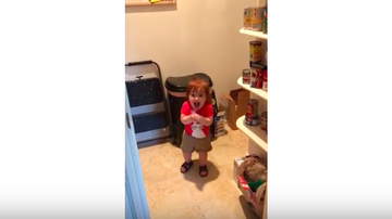 JB - ***VIDEO*** Toddler Trashes Veggie Pouch After Tasting It