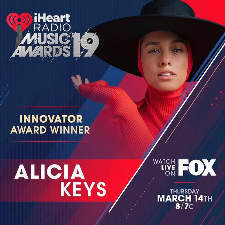 Alicia Keys 2019 iHeartRadio Music Awards